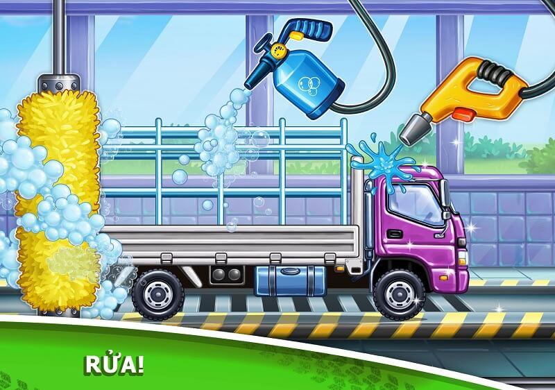 Hướng dẫn chơi Game Trò chơi xe tải cho trẻ em - xây dựng nhà cửa