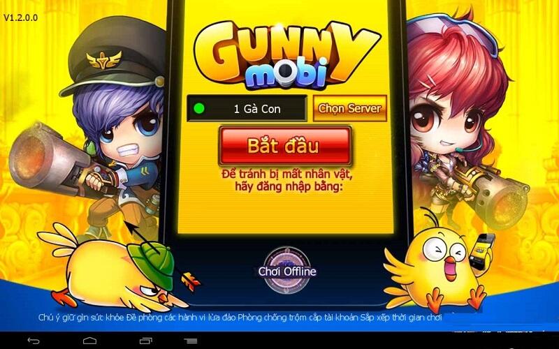 Gunny mobi - Trò bắn gà huyền thoại cho lứa tuổi học sinh