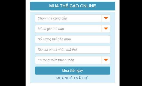 Mua card online giá rẻ