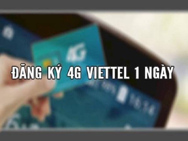 Đăng ký 4G viettel 1 ngày giá rẻ