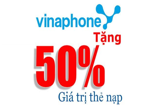 Vinaphone khuyến mãi 50% ngày 9/5/2017