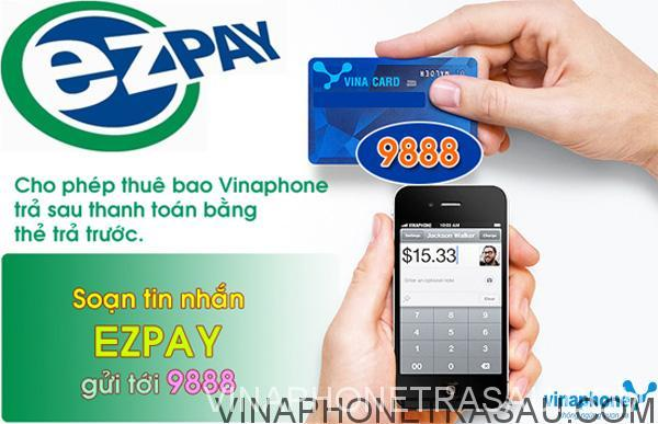 nạp tiền điện thoại cho thuê bao trả sau VinaPhone thông qua EZPAY