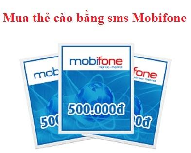 Mua mã thẻ cào bằng SMS mobi