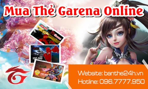 Mua thẻ Garena online