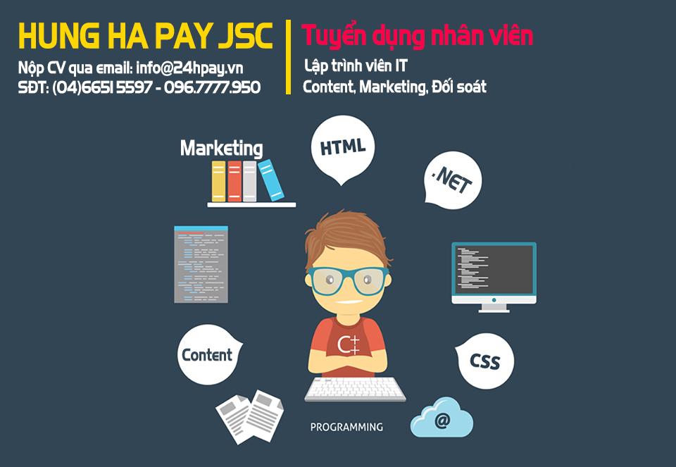 Thông tin tuyển dụng nhân sự tại Hung Ha Pay