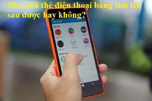 Mua thẻ điện thoại bằng sms trả sau