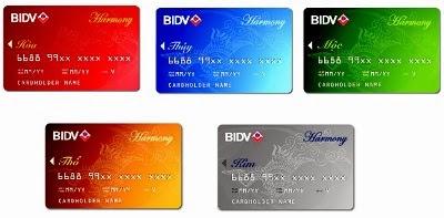 Các loại thẻ BIDV