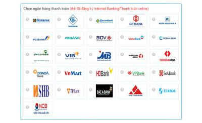 Các phương thức thanh toán trên banthe24h.vn