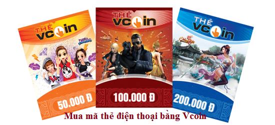 Mua card nạp điện thoại bằng Vcoin