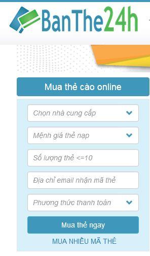 Mua card vinaphone online
