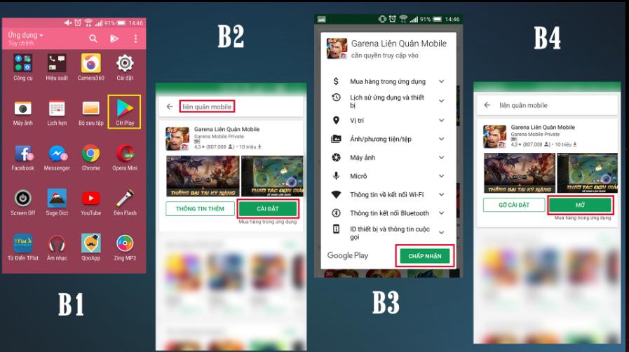 cách tải game liên quân Mobile trên android