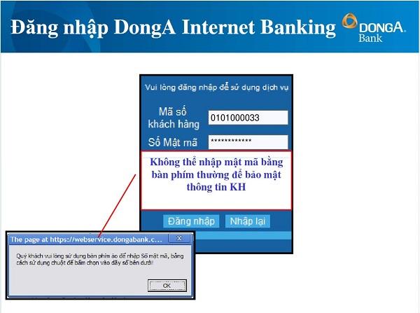 hướng dẫn đăng ký internet banking đông á