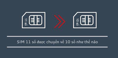 Đổi Sim 11 số thành 10 số