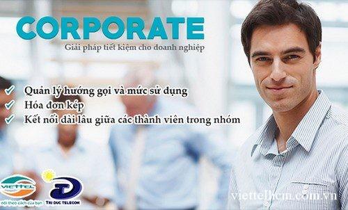 Gói cước Corporate trả sau của Viettel