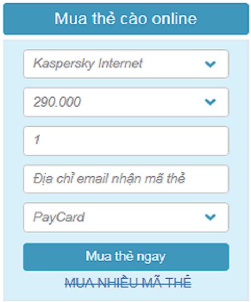 phần mềm kaspersky