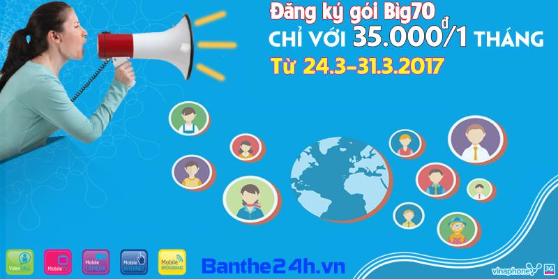 Khuyến mãi 3G big70 Vinaphone