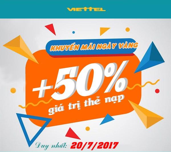 Tin tức khuyến mãi Viettel ngày 20/9/2017