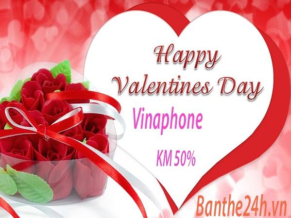 Khuyến mãi Vinaphone nạp thẻ ngày lễ tình yêu