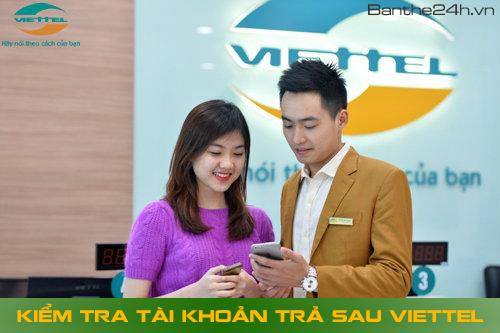 Kiểm tra tài khoản thuê bao trả sau Viettel
