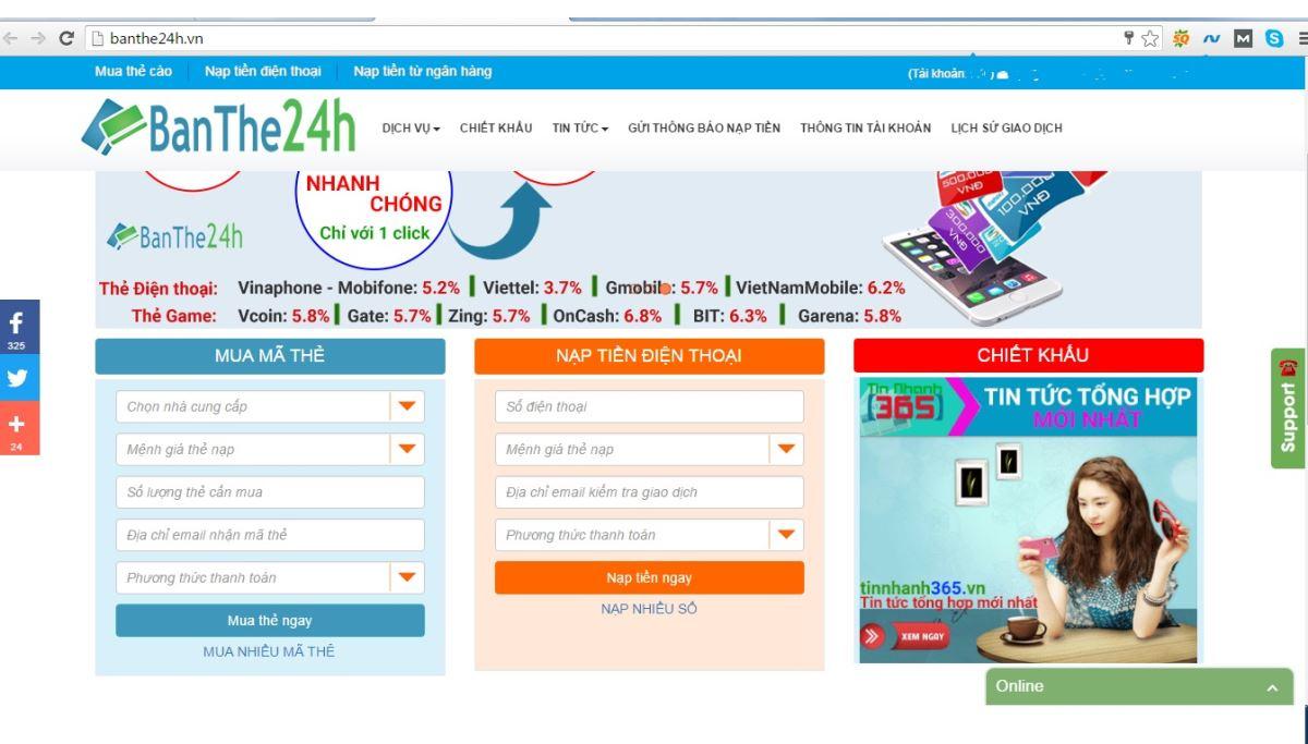 Quý khách hàng sẽ nhận được rất nhiều các lợi ích khi nạp thẻ điện thoại  tại banthe24h.vn, website cung cấp rất nhiều các dịch vụ về thẻ cào điện  thoại, ...