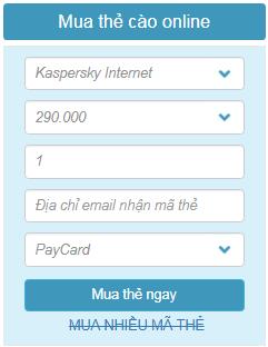 Mua bản quyền key kaspersky