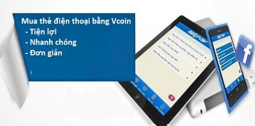 Hướng dẫn mua card nạp điện thoại bằng Vcoin