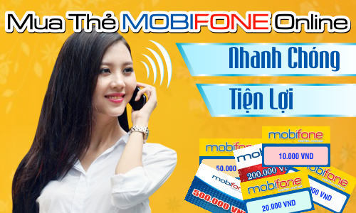 Mua thẻ điện thoại bằng sms Mobiphone