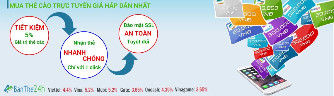 mua nhanh các loại thẻ giá rẻ tại Banthe24h.vn