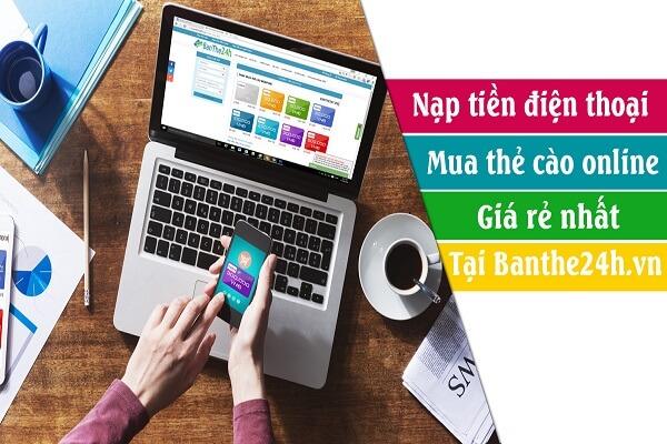 các bước mua thẻ điện thoại online qua ngân hàng của banthe24hvn