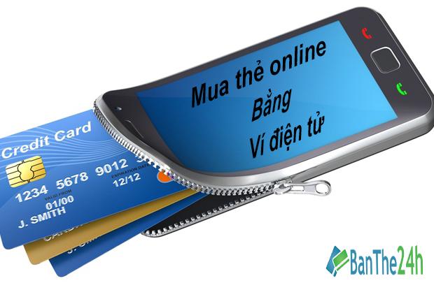 Cách mua thẻ điện thoại online bằng Ví điện tử Vn Mart tại Banthe24h.vn