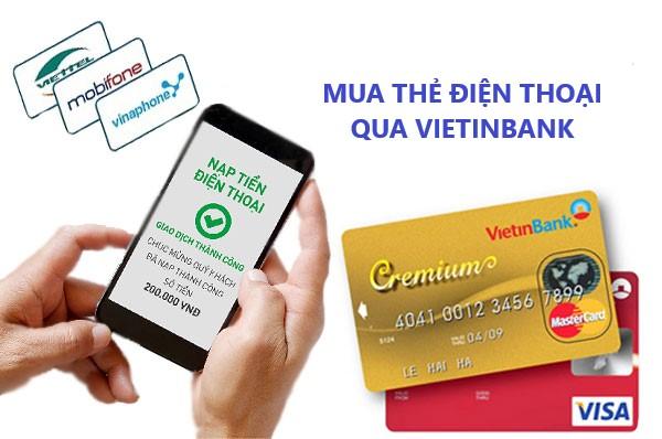 Mua thẻ điện thoại bằng thẻ atm Vietinbank