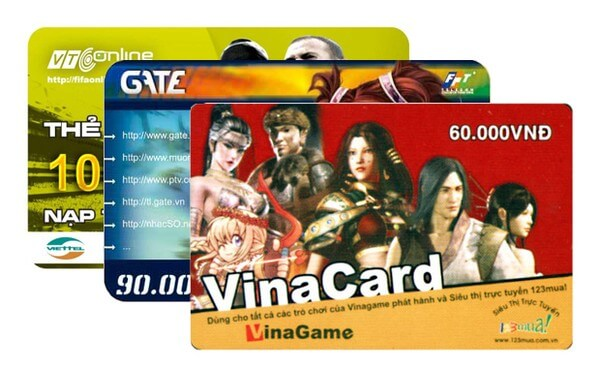 một số loại thẻ game