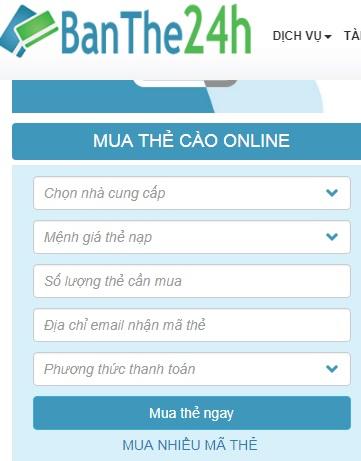 Mua thẻ Mobifone online ưu đãi