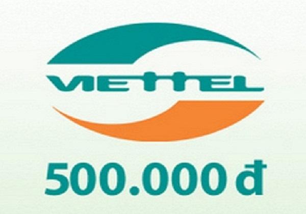 Mua mã nạp thẻ Viettel 500k online chiết khấu cao