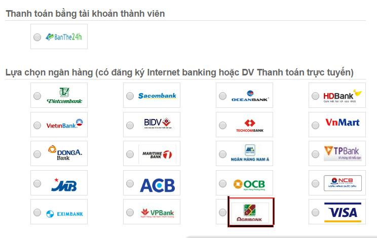 Nạp tiền điện thoại dễ dàng qua Agribank