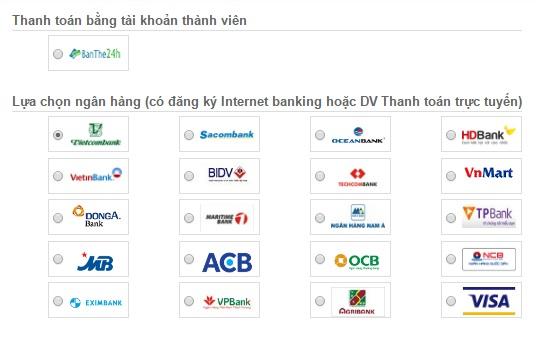 Nạp tiền online Viettel Vina Mobi
