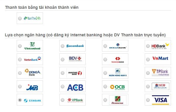 Nạp tiền Viettel bằng Maritime Bank