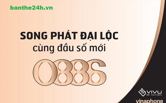 Sim đầu số phát lộc 0886 Vinaphone