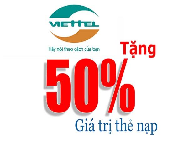 Viettel khuyến mãi nạp thẻ từ ngày 12 đến 17/5/2017