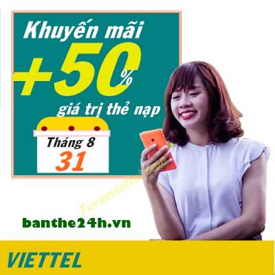 Viettel khuyến mãi nạp tiền điện thoại mùng 2/9