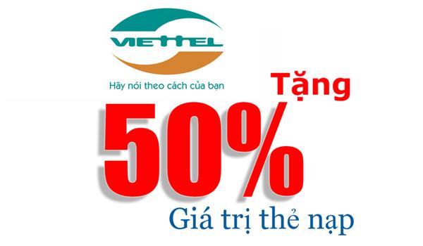 Viettel khuyến mãi ngày 30/11/2017