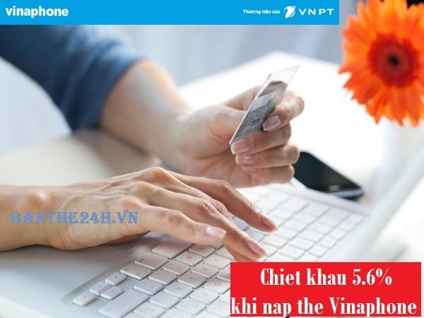 Vinaphone khuyến mãi nạp tiền điện thoại trực tuyến